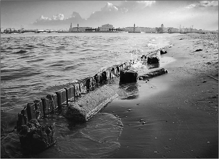 "photo ""St-Petersburg"" tags: architecture, black&white, landscape,"