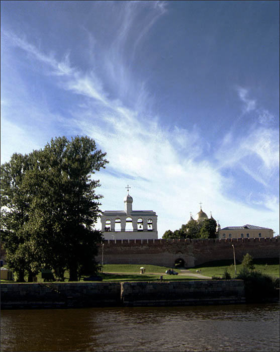 "фото ""Новгородский кремль"" метки: архитектура, пейзаж, облака"