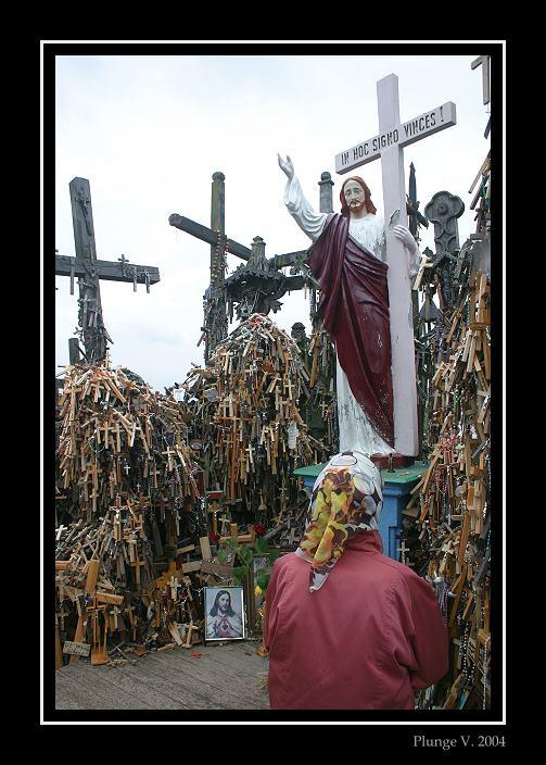 "фото ""The Hill of Crosses is a Lithuanian Golgohta"" метки: репортаж, фотомонтаж,"