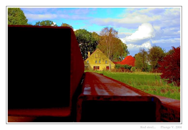 """фото """"Red steel..."""" метки: пейзаж, фотомонтаж, осень"""