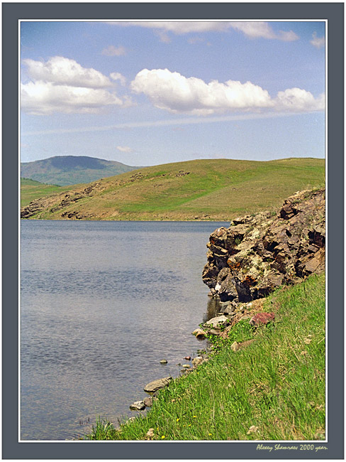 """фото """"Горное озеро 1"""" метки: пейзаж, вода, облака"""