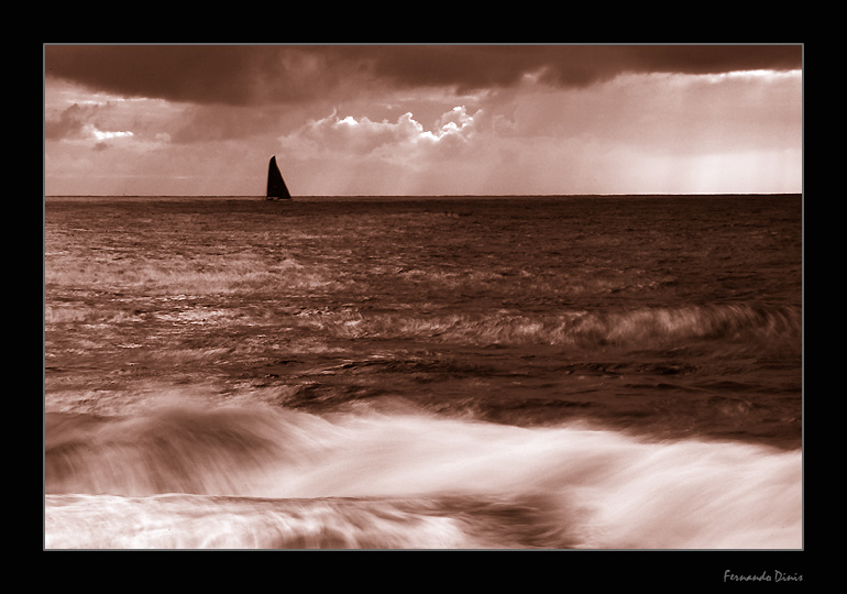 "photo ""Sailing in strong waters"" tags: landscape, genre, water"