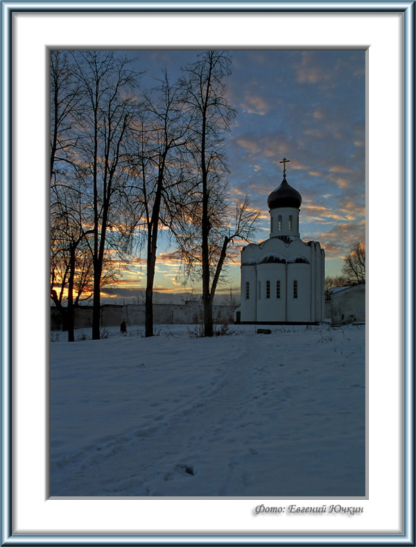 """фото """"Закат на Угреше"""" метки: архитектура, пейзаж, закат"""