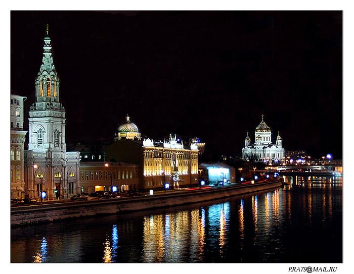 """фото """"Ночной город №1"""" метки: архитектура, пейзаж,"""