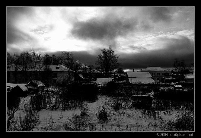 """фото """"Уездный город"""" метки: пейзаж, черно-белые, зима"""