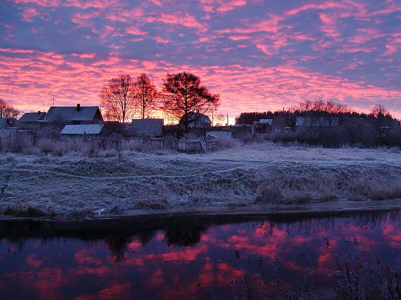 "фото ""утренний иней"" метки: пейзаж, закат"