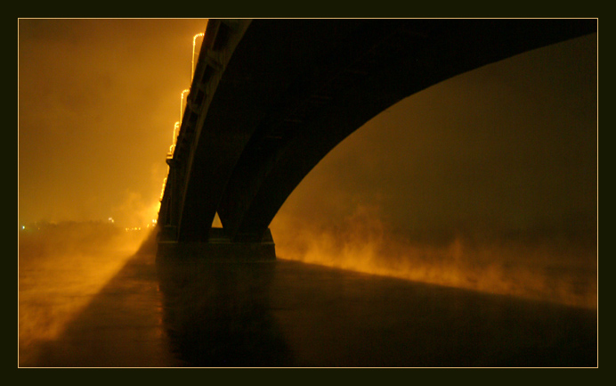 "фото ""Под мостом"" метки: архитектура, пейзаж, зима"