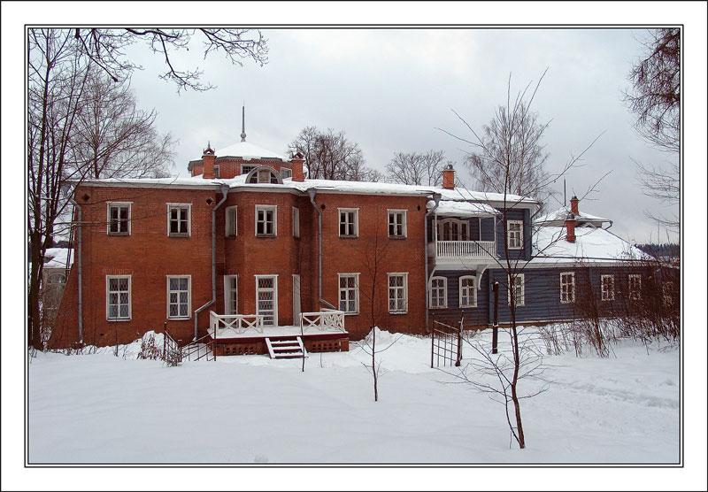 """фото """"Главный усадебный дом."""" метки: архитектура, пейзаж, зима"""