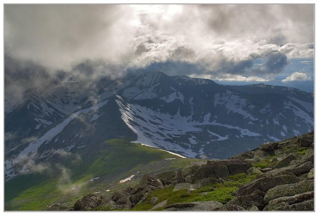 """фото """"Озерный"""" метки: пейзаж, горы, облака"""