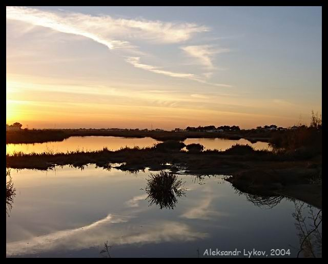 "фото ""Blue & Pink"" метки: пейзаж, вода, закат"