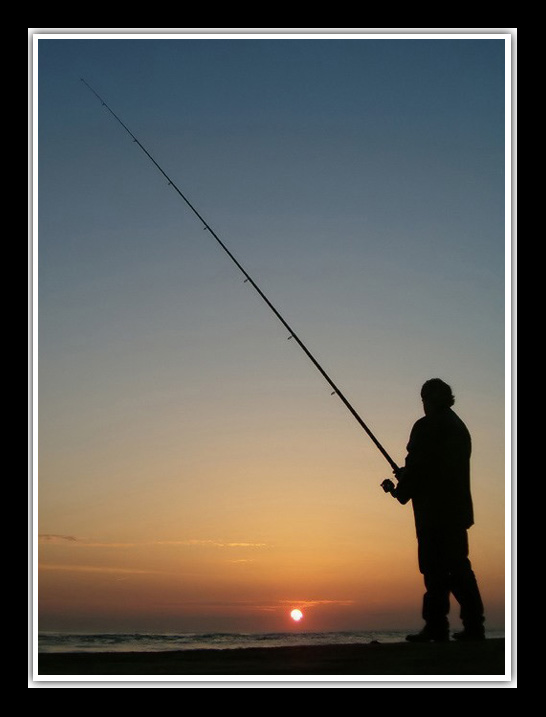 "фото ""fishing the sunset light"" метки: пейзаж, вода"