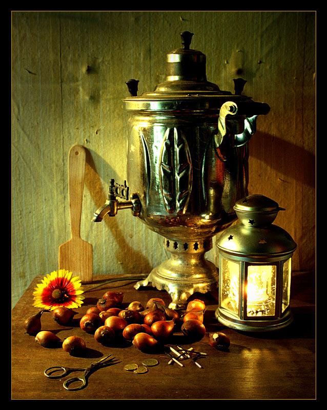 "фото ""Дачный а ля рюс: цветок и ножницы"" метки: натюрморт,"
