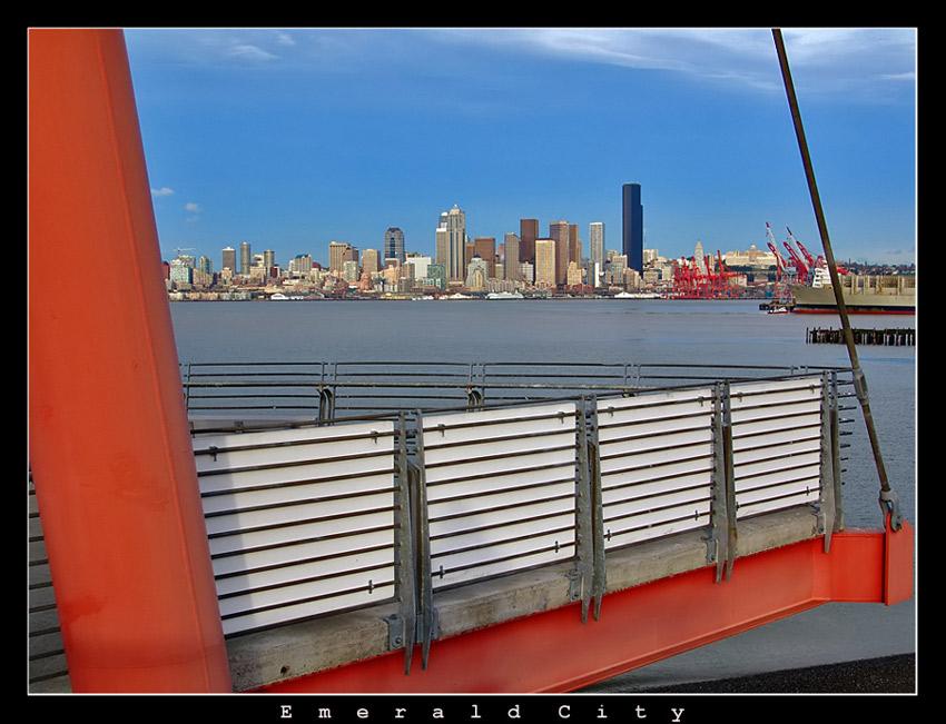 """photo """"Emerald City"""" tags: architecture, travel, landscape, North America"""