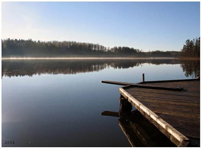 """фото """"morning at lake"""" метки: пейзаж, вода, осень"""