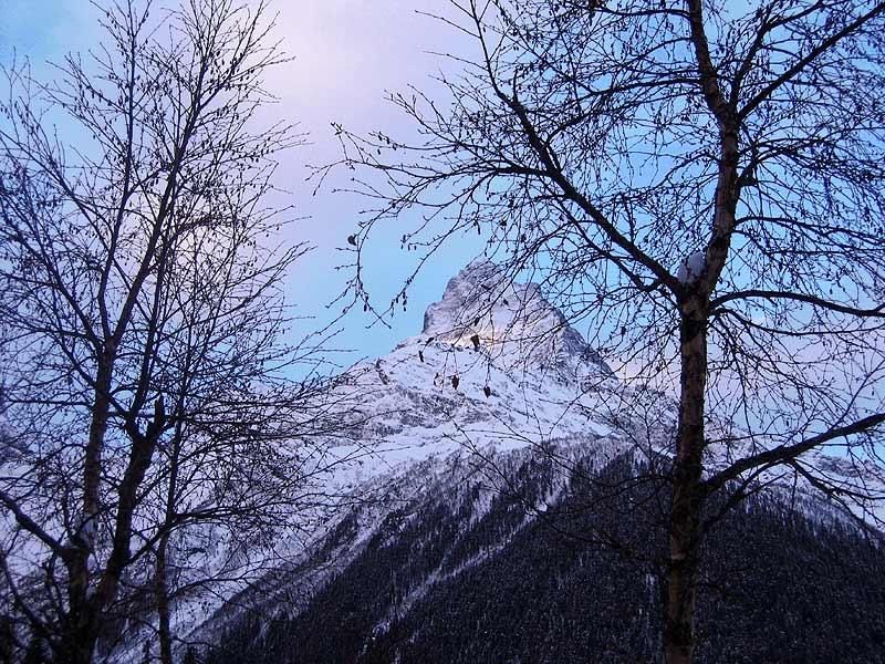 """фото """"Белалакая в розово-голубых тонах"""" метки: пейзаж, горы, зима"""