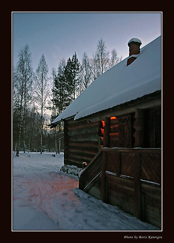"""фото """"Сумеречный свет"""" метки: пейзаж, зима, лес"""
