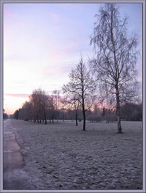 """фото """"Прощание..."""" метки: пейзаж, закат, зима"""