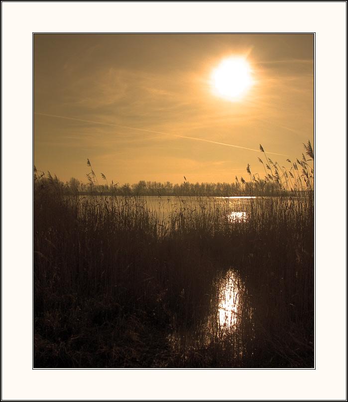 "фото ""зима 2005 #4"" метки: пейзаж, вода, закат"