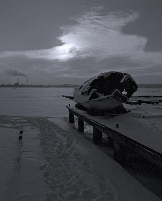 """фото """"Последняя пристань ..."""" метки: пейзаж, зима"""