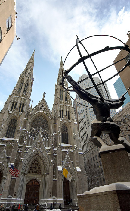 """фото """"St. Patrick`s & Atlas"""" метки: архитектура, пейзаж,"""