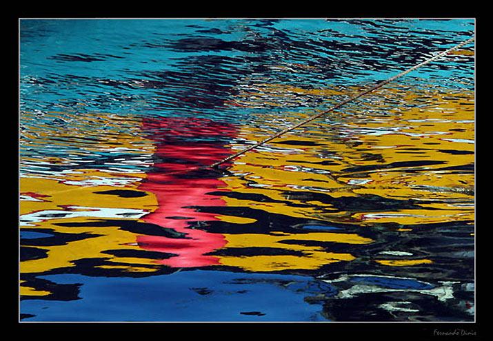 """фото """"Red band"""" метки: пейзаж, абстракция, вода"""