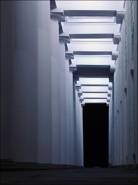 "фото ""Колоннада"" метки: архитектура, пейзаж, ночь"