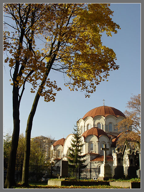 "photo ""New Maiden convent."" tags: architecture, landscape, autumn"