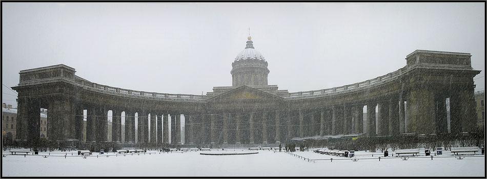 """фото """"Казанский собор."""" метки: архитектура, пейзаж, зима"""