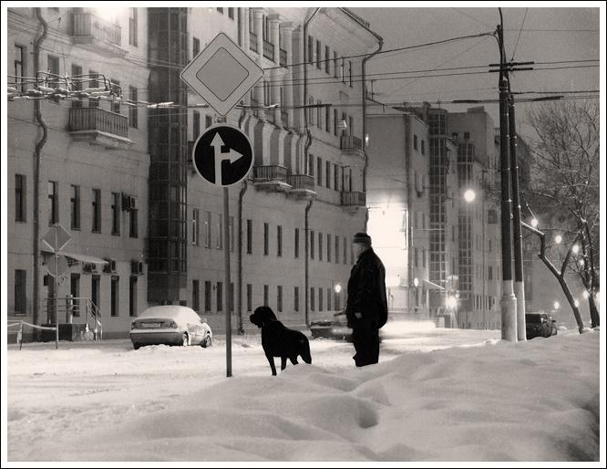 """фото """"Зима в Москве!!!"""" метки: архитектура, черно-белые, пейзаж,"""