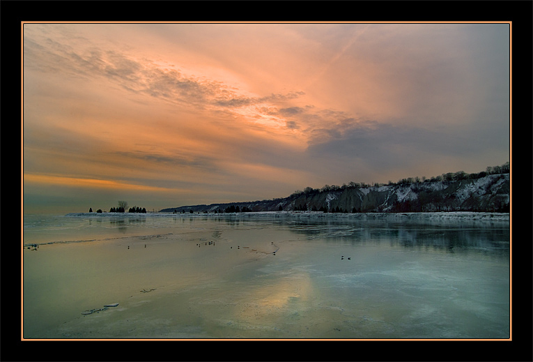 "фото ""В конце января"" метки: пейзаж, закат, зима"