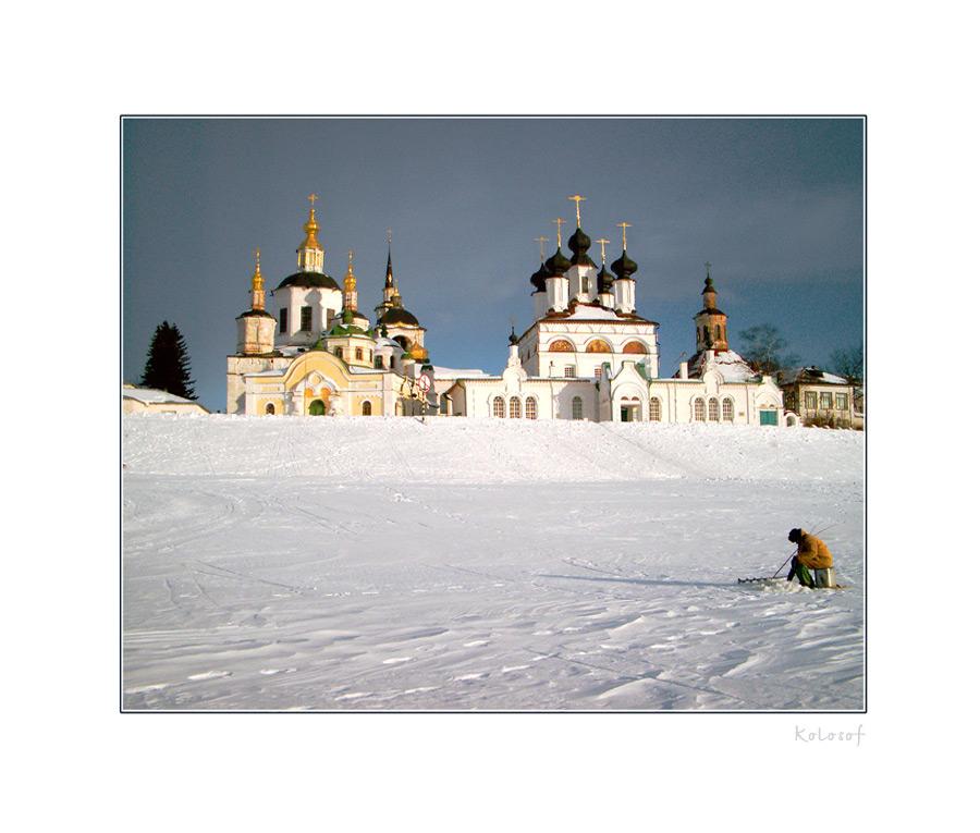 """фото """"Зимний рыбак"""" метки: архитектура, пейзаж, зима"""