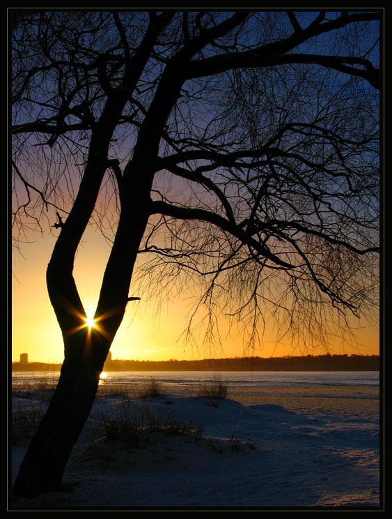 """фото """"Captured sun"""" метки: пейзаж, природа, закат"""