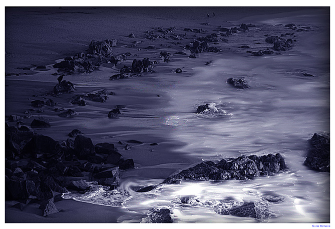 "фото ""Blue days on the beach..."" метки: пейзаж, закат"