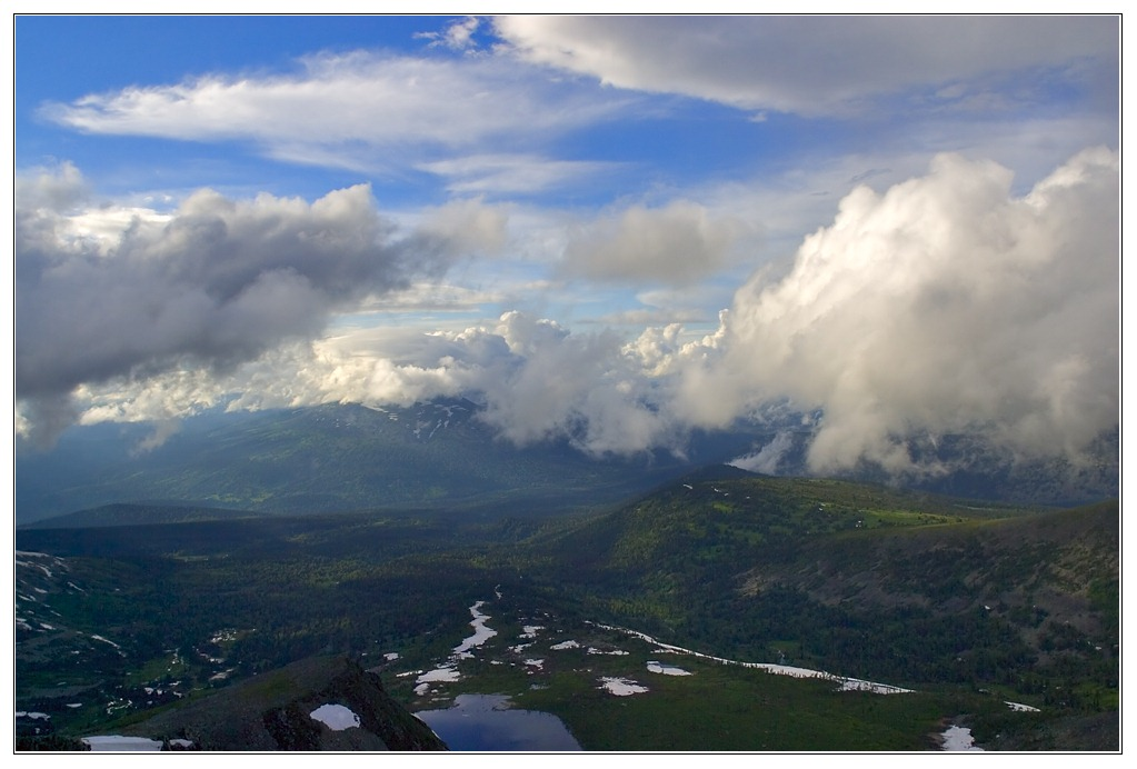 """фото """"Нижняя Тайжасу"""" метки: пейзаж, горы, облака"""
