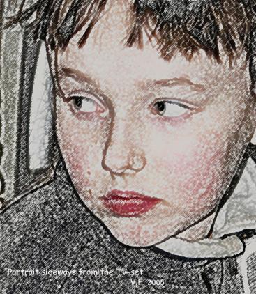 """фото """"Портрет сбоку от телевизора"""" метки: портрет, фотомонтаж, женщина"""