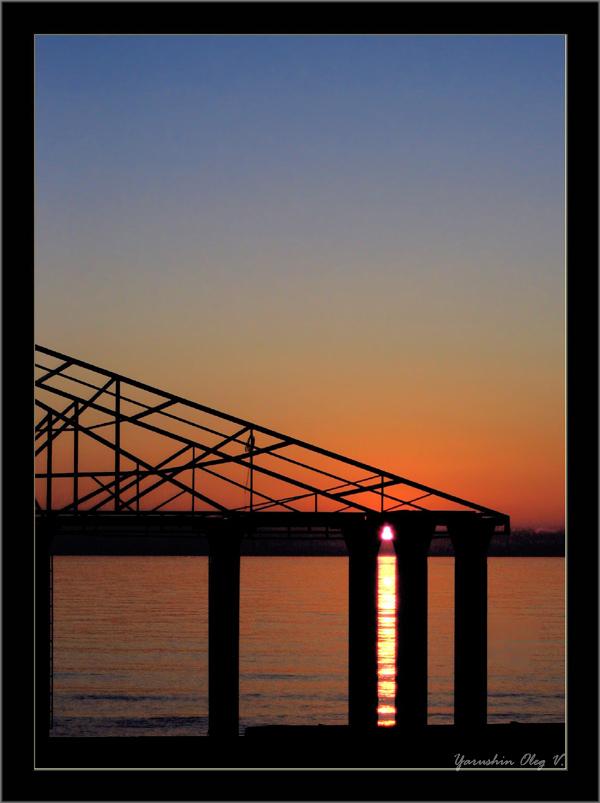 """фото """"треугольный закат"""" метки: пейзаж, вода, закат"""