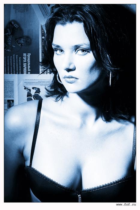 """фото """"Этюд в синих тонах."""" метки: ню, портрет, женщина"""
