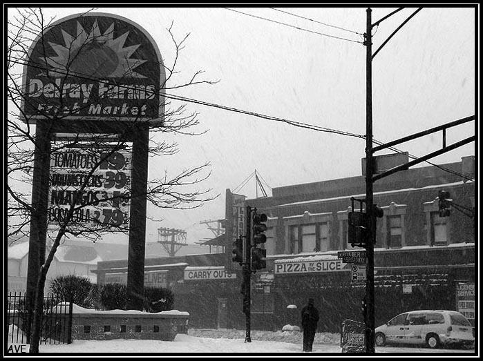 "фото ""Blizzard in the City"" метки: архитектура, черно-белые, пейзаж,"