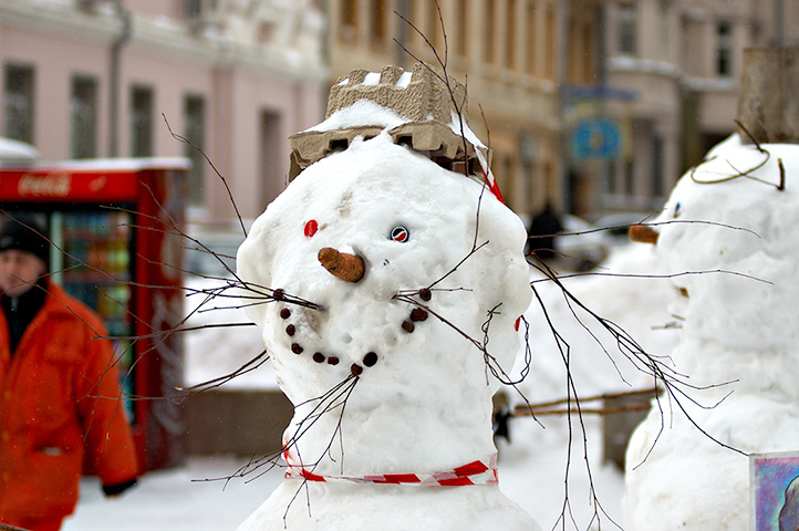 "фото ""Позитивный снеговик"" метки: юмор, портрет, мужчина"