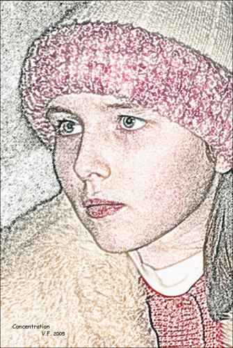 """фото """"Сосредоточенность"""" метки: портрет, фотомонтаж, женщина"""
