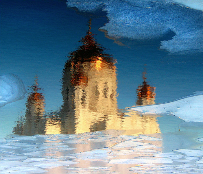 "фото ""Сказание о граде Китеже. (2)"" метки: пейзаж, вода, зима"
