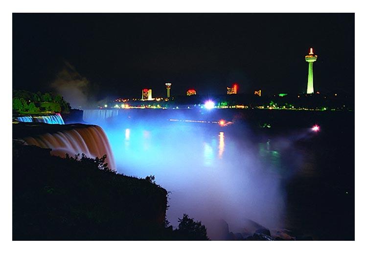 "фото ""the night of Niagarafalls"" метки: путешествия, пейзаж, Северная Америка, вода"