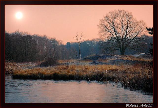 """фото """"sunset"""" метки: пейзаж, закат, зима"""