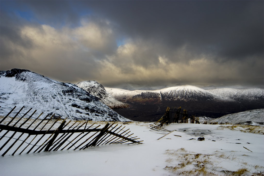 "фото ""The Snow Fence"" метки: пейзаж, горы, зима"