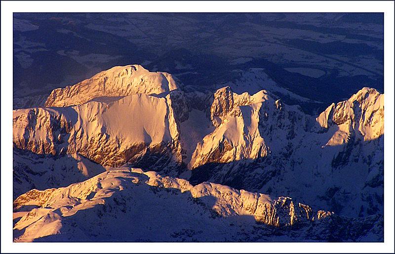 "фото ""Alpy v zakate"" метки: пейзаж, горы, закат"