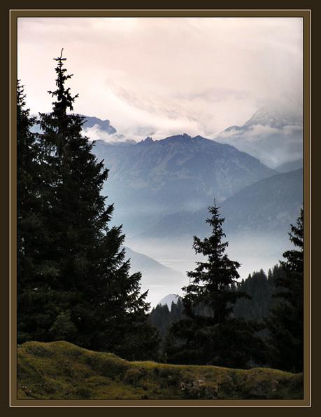 "фото ""Утро туманное..."" метки: пейзаж, горы"