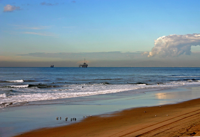 "фото ""Oil rigs and nature"" метки: разное, пейзаж, вода"