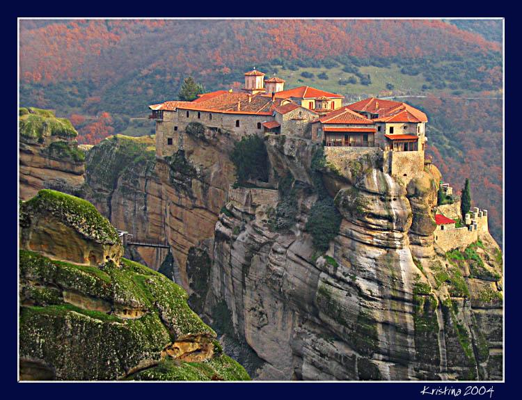"""фото """"Varlaam Monastery"""" метки: путешествия, пейзаж, Европа, горы"""