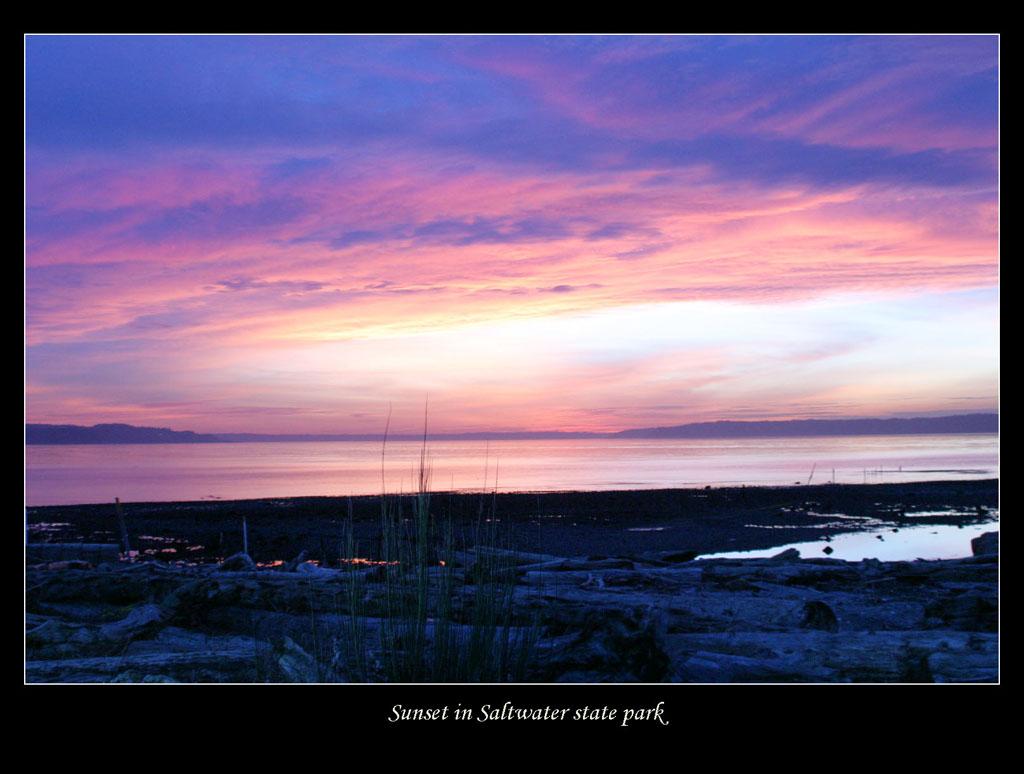 "фото ""Saltwater State Park Sunset"" метки: пейзаж, закат, облака"