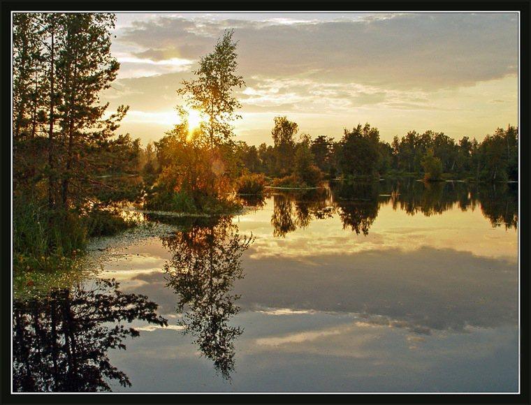 """фото """"Летняя вечерняя картинка"""" метки: пейзаж, закат, лето"""